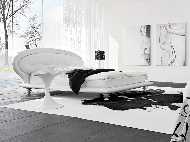 ILE, Upholstered bed for modern bedrooms