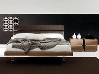 Coast to Coast, Design bed, in leather and fabric, for modern hotel