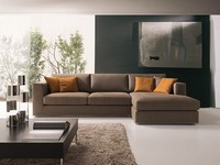 Artico, Modern corner sofa, in fabric or leather, for sitting
