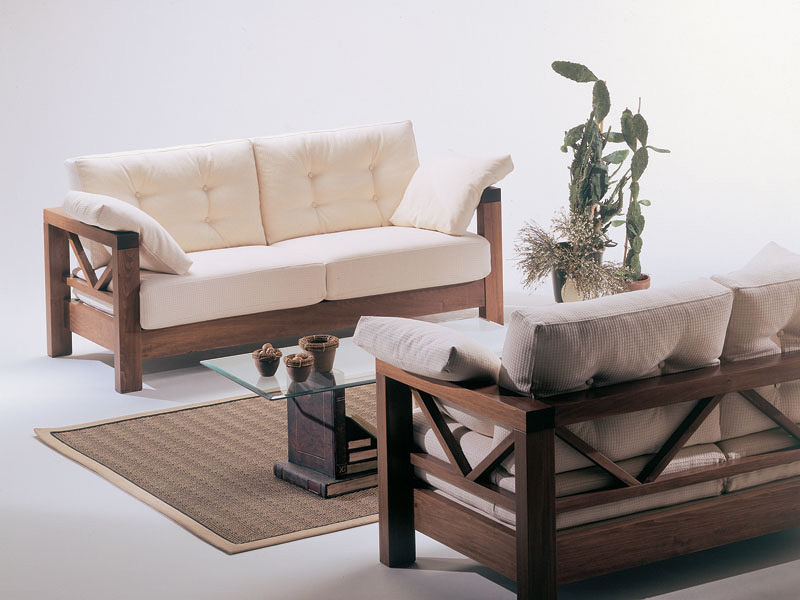 Simple Wooden Sofa Designs Images