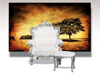Barocco, Armchair with silver leaf decorations, classic luxury