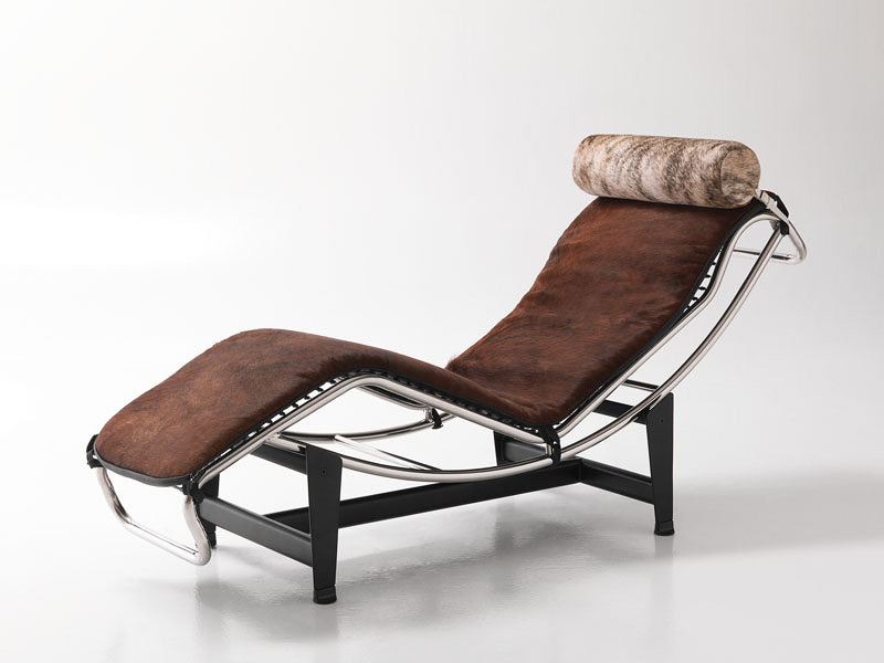 Tilting chaise longue design in leather for office for Chaise longue balancelle