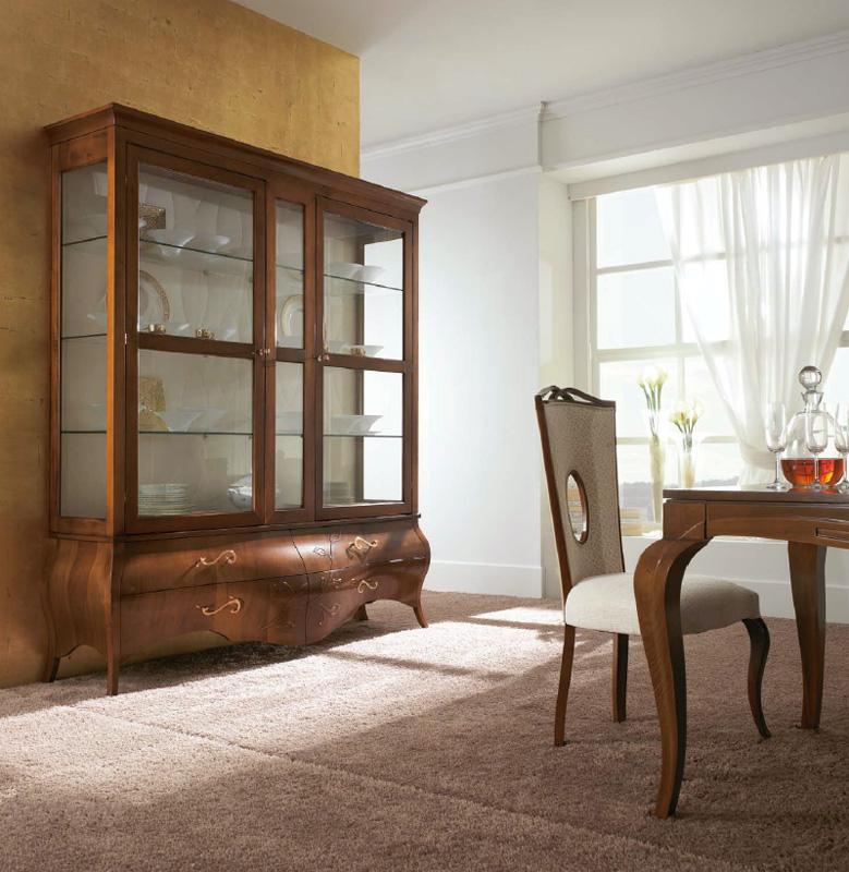 Wooden display cabinet, Glass door cabinet, New classic ...