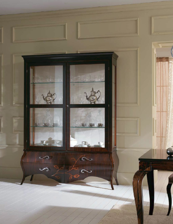 Wooden Display Cabinet Glass Door Cabinet New Classic Display Cabinet Living Room Reading