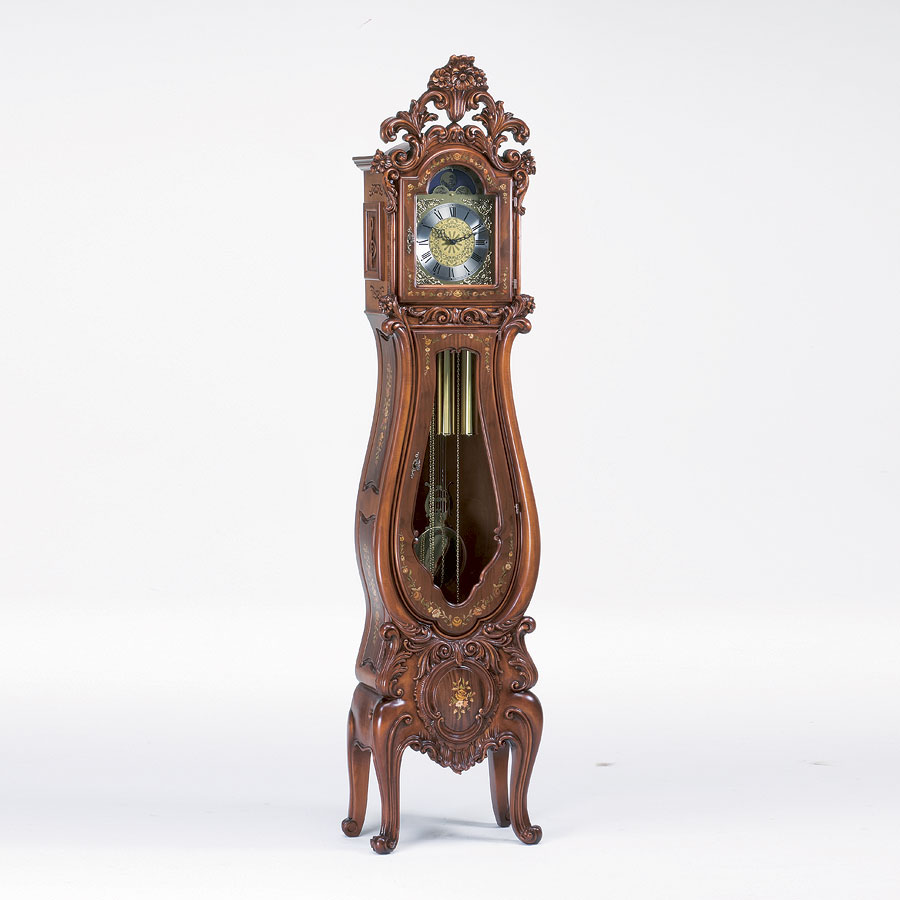 Grandfather Clock In Baroque Style Hand Carved IDFdesign