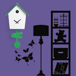 Tweet, Pendolum Cuckoo clock, colorful, for modern kitchens