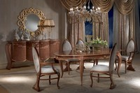 TA51 Vanity, Antique dining table, oval, extendable, gold leaf