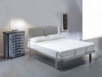 Bauhaus, Double bed with metal structure