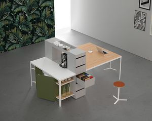 Isola Shop H90-H105, Multifunction table for kitchen and meeting