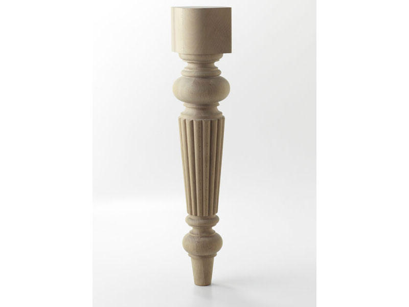 LEG B, Wooden leg turned for modern table