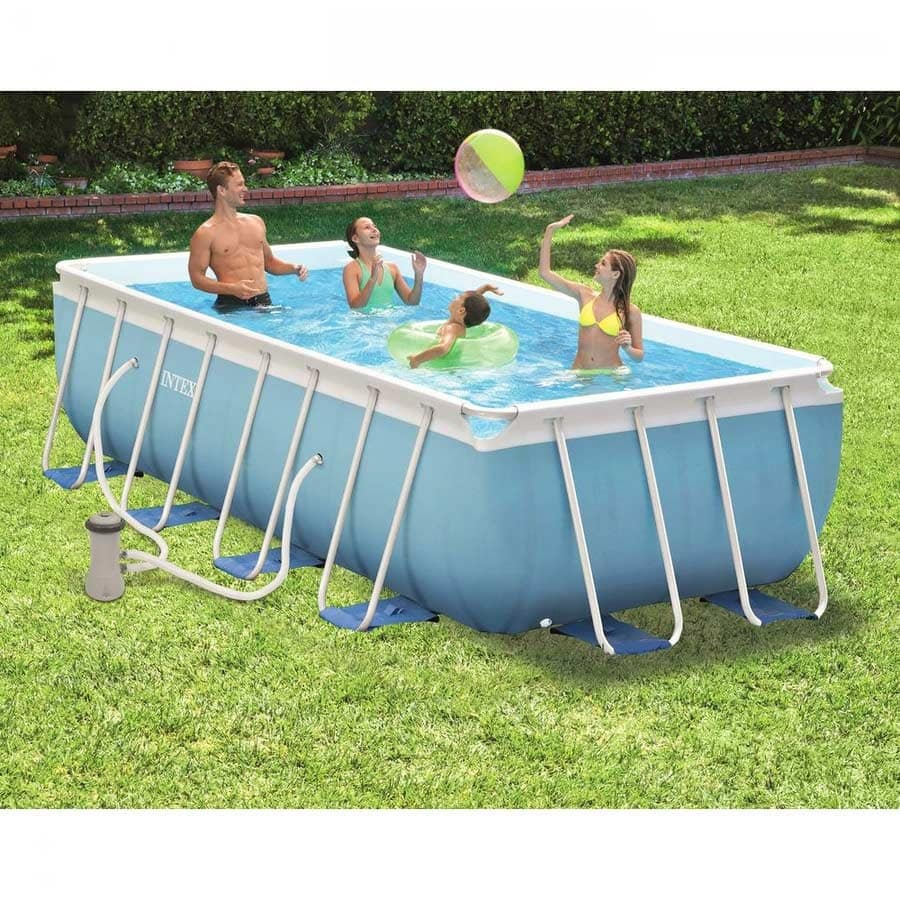 intex above ground swimming pool. Above Ground Pool Prism Frame Intex \u2013 28318, Rectangular Ground, In PVC Swimming