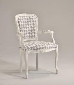 Picture of BRIANZOLA chair with armrests 8017A, chair in wood