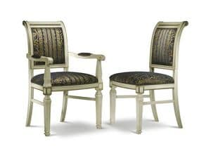 Picture of GRECA chair with armrests 8268A, chairs with arms and padded seat