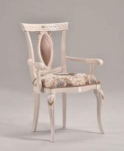 Picture of MICHY armchair 8169A, chair in hand-worked wood
