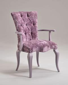 Picture of ROYAL armchair 8494A, chair with arms and fabric seat