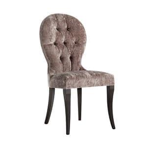 Art. CA135, Classic style chair, upholstered in velvet