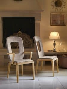 Art. VL121, Chair with armrests for dining room