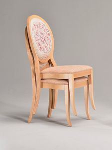 S14, Stackable chair with round backrest