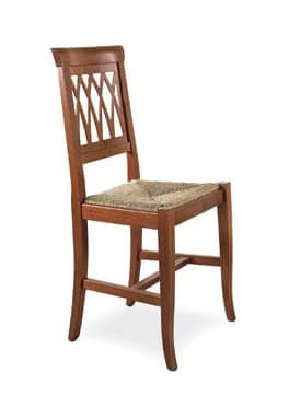 SE 157, Robust dining chair, wooden, in rustic style