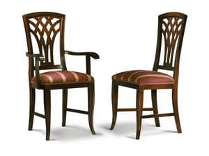 Picture of INTRECCIATA chair 8031S, dining chair with decorated back