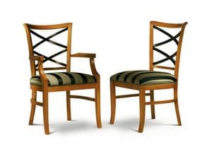 Picture of CROCI chair 8011S, wooden frame chairs