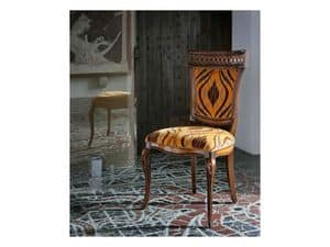 Picture of FREUD chair 8233S, dining chair with traditionally decorated back