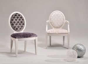 LUNA chair 8269S, Upholstered chair, customizable coverings and colors