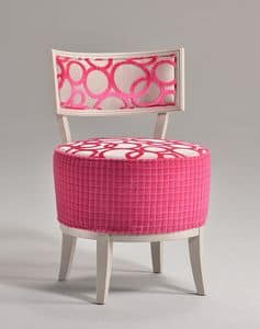 Picture of ROUND chair 8641S, chair with padded seat