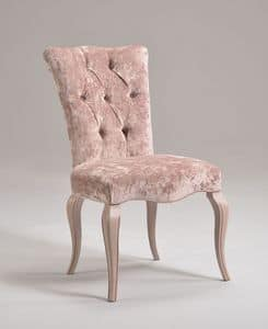 ROYAL chair 8494S, Classic chair in beechwood, padded, customizable
