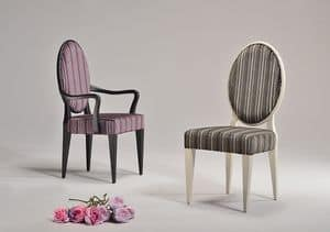 YVONNE chair 8615S, Traditional dining chair, round back, for restaurant