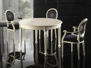 Picture of LUIGI XVI ROUND table 8023T, decorated tables