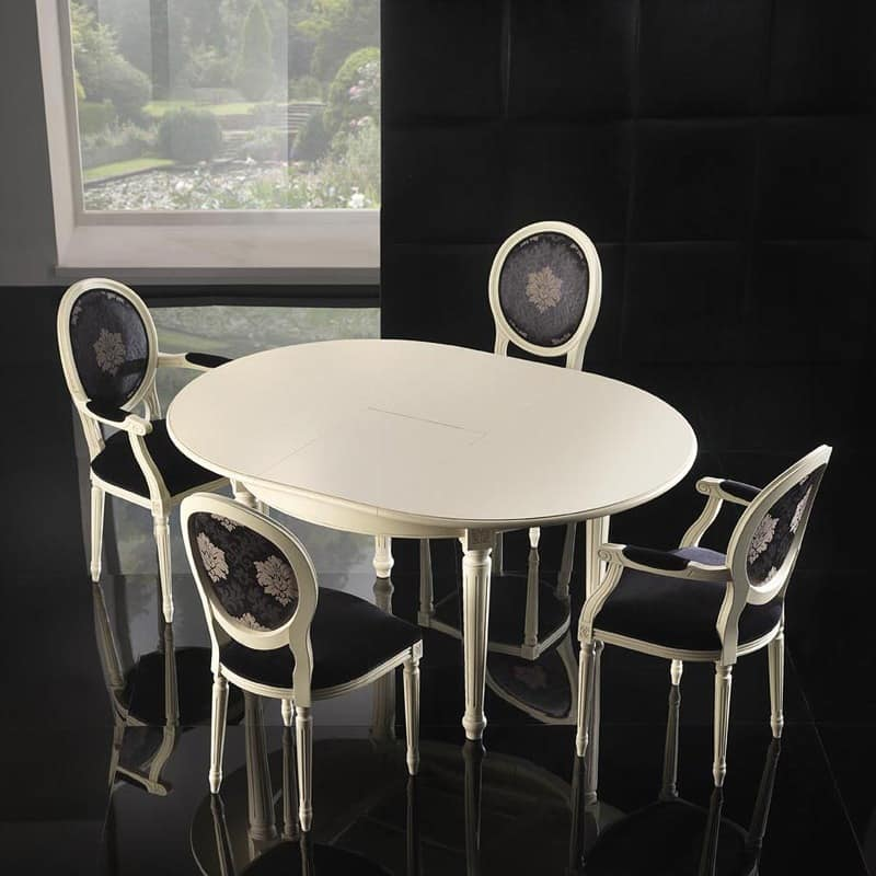 Picture of LUIGI XVI ROUND table 8023T, suitable for reception