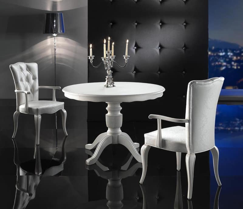Deluxe Round Table Extendable For Kitchens Idfdesign