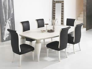 ZARA table 8360T, Dining table with barrel top and well-shaped legs
