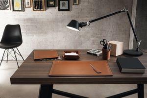 Ascanio 5pz, Leather desk accessories