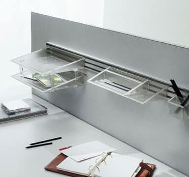 Desk up hanging, Office accessories with suspension system
