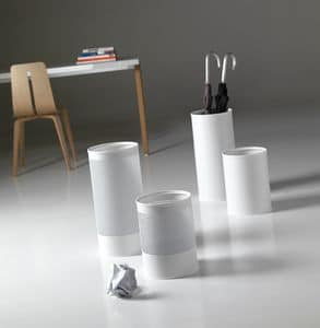Hi-Tech, Wastepaper baskets and umbrella stands in painted steel