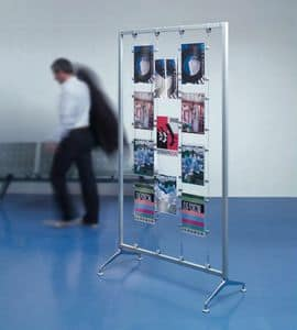 Koala-t/Archimede display, acrylic brochure holders and exhibitors, for banks
