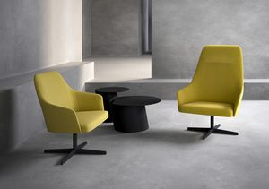Axel 100L_4X/FU, Lounge armchair with high backrest