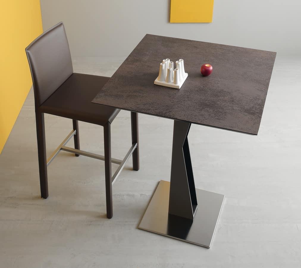 bar table metal base laminate top idfdesign. Black Bedroom Furniture Sets. Home Design Ideas