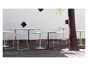 Dizzie 0681, Bar table in steel, white top in various sizes