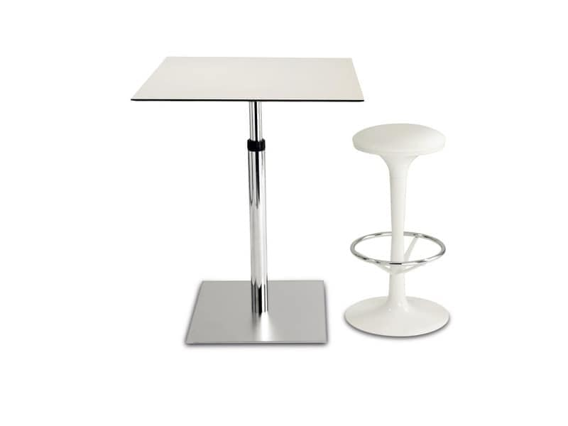 Small table for bars adjustable in height in steel for Petite table bar