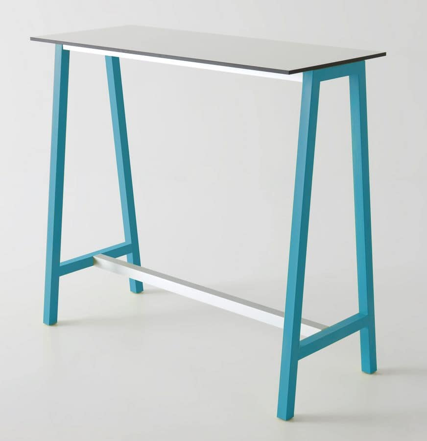 High table in metal and polymer for bars idfdesign - Tables hautes bar ...