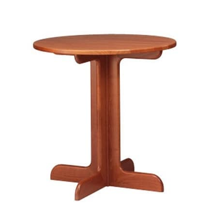 602, Small round table in beech, cross base, for pubs and bars