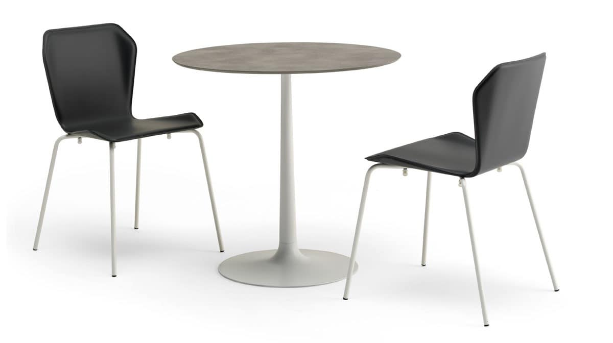 Contract table rounded small table bar idfdesign for Petite table bar