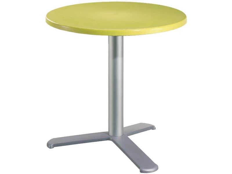 Table Ø 60 cod. 04/BG3L, Outdoor bar table, polypropylene top