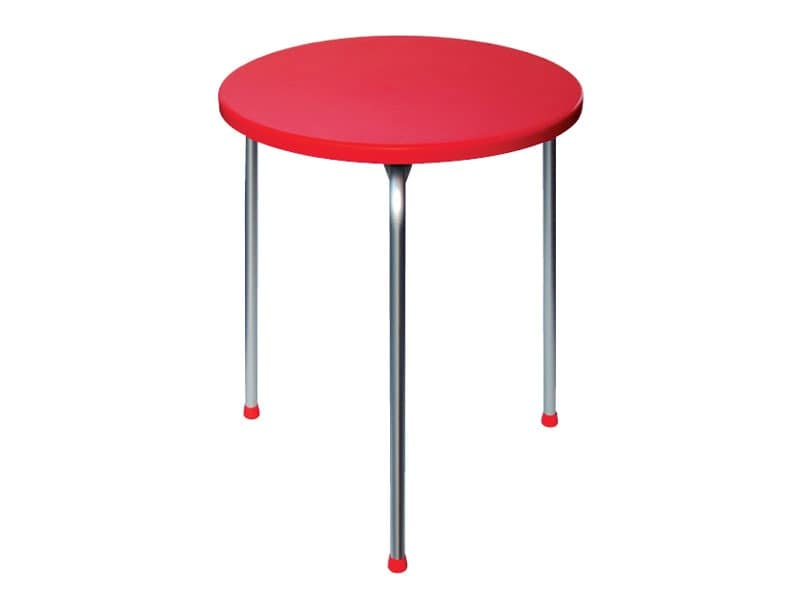 Table Ø 60 cod. 04, Stackable table with three legs in anodized aluminum