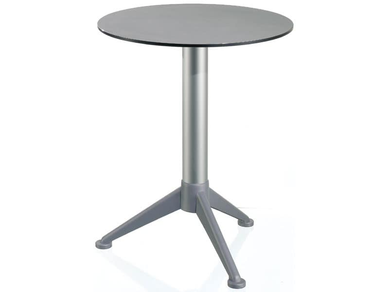 Table Ø 60 cod. 07/BG3A, Small round table with top in Alusystem