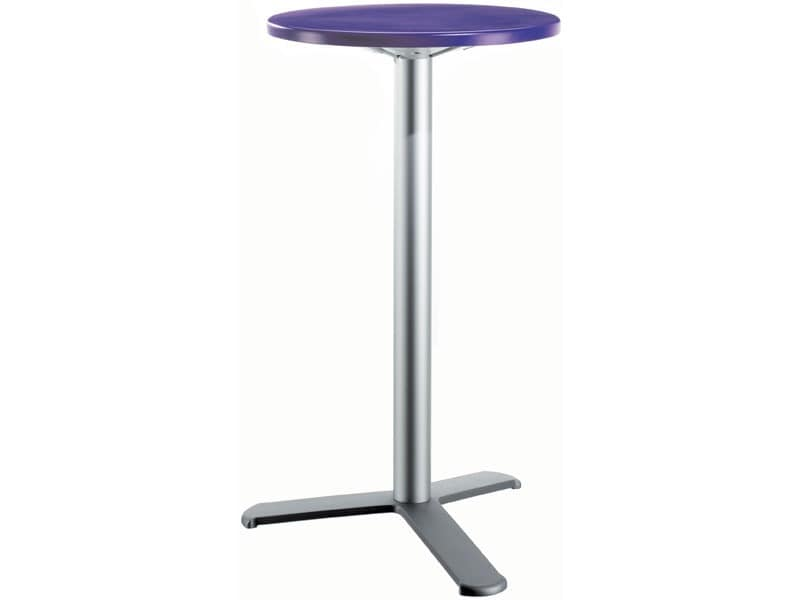 Table Ø 60 h 110 cod. 08/BG3L, Contemporary high side table for Snack bar