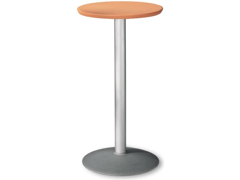 Table Ø 60 h 110 cod. 08/BT54, Round stainless table for extern use